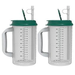 32 oz Hospital Mugs with Electron Jade Lids - Cold Drink Tr