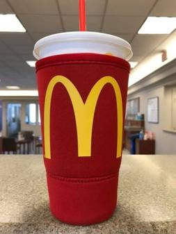 McDonald's JAVA Koozie/Coozie -Red 32oz Neoprene Sleeve Sz