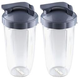 2 Pack NutriBullet 32 oz Colossal Cups with Flip Top To-Go L