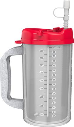 32 oz Insulated Hospital Mugs with Red lids | BPA FREE!