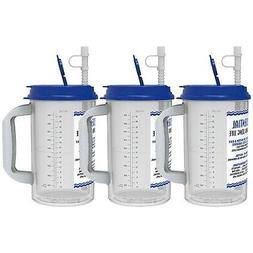 32 oz Water Essential Insulated Mugs with Straws | Blue Hos