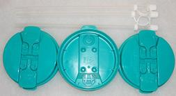 """3- Teal Replacement lids and 3-11"""" Flexible Straws for 32 oz"""
