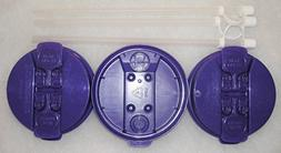 "3- Purple Replacement lids and 3-11"" Flexible Straws for 32"