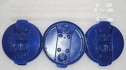 "3-Dark Blue Replacement lids and 3-11"" Flexible Straws for 3"