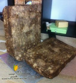 32 Oz / 2lb  Pure Raw African Black Soap from Ghana - Grade
