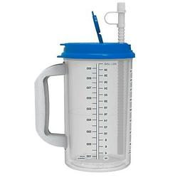 32 oz Hospital Mug with Pearl Blue Lid - Insulated Cold Drin