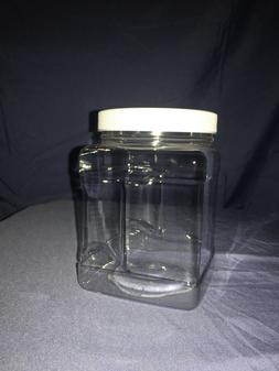 32 oz Plastic Grip Container with Top for Storage Jar
