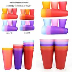 32 OZ Plastic Tumblers/Large Drinking Glasses/Party Cups/Ice
