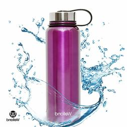 Purple Hydro Bottle 32oz Vacuum Stainless Steel Water Flask