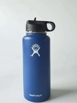 32oz Hydro Flask Bottle Insulated Width Mouth Straw Lid Stai