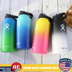 32Oz Hydro Flask Water Bottle Gradient Color Wide Mouth Stai