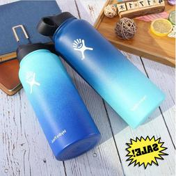 32oz Hydro Vacuum Wide Mouth Insulated Water Bottles With St
