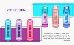 32oz motivational water bottle with time marker