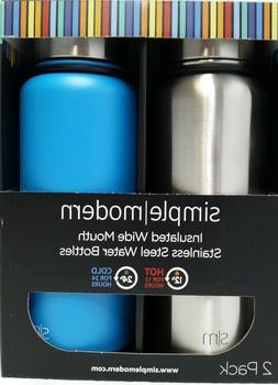 Simple Modern 32oz Stainless Steel Bottles 2 Pack!  Wide Mou