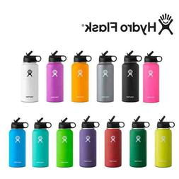 32oz Hydro Flask Stainless Steel Water Bottle Thermos Straw