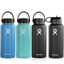 32oz water bottle insulated flex cap wide