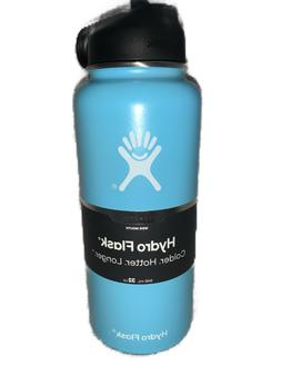 Hydro Flask 32oz Wide Mouth With Straw Lid Stainless Steel B
