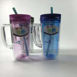 INSULATED STRAW TUMBLER W/ HANDLE 32 OZ BUBBA ENVY DOUBLE W