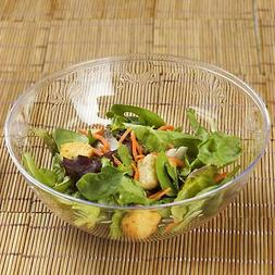 4 /pk  Clear Round 32oz Plastic Disposable Salad Bowl   Cate
