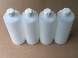 4 - 32 Oz HDPE Plastic Bottles with Squeeze Top Reusable   B