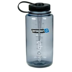Nalgene 32oz Tritan Wide Mouth Bottle Grey w/Black Lid