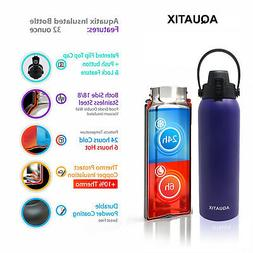 Aquatix Purple Lavender Insulated FlipTop Sport Bottle 32oz