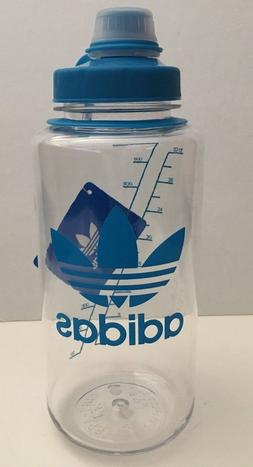 adidas BPA-FREE Clear Turquoise Water Bottle 32 oz Twist Cap