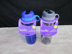 Pogo BPA-Free Plastic Water Bottle with Flip Straw 32 oz 2 P