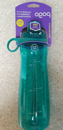 BRAND NEW! Pogo 32 oz Teal Tritan Water Bottle With Chug Lid