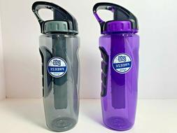Cool Gear Freeze hydrate Bottle 32 Oz with Ice pack Flip up