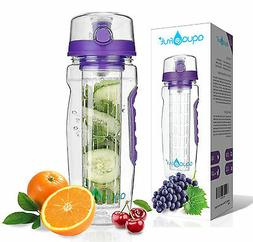 AquaFrut 32oz Fruit Infuser Water Bottle  with Bonus Brush!
