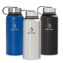 H2O Flask Insulated Water Bottle with Straw Stainless Steel