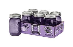 Ball Heritage Collection Purple Pint Jars, Regular Mouth, 6-