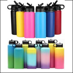 Hydro Stainless Steel Water Bottle Flask Insulated Straw Lid
