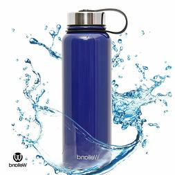 Hydro Water Bottle Blue 40oz Sports Stainless Steel Flask WE