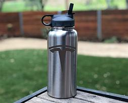 Liquid Savvy 32 oz Insulated Sports Water Bottle with Straw