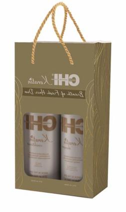 CHI Keratin Shampoo and Conditioner 32 Oz  Liter Duo / Set F