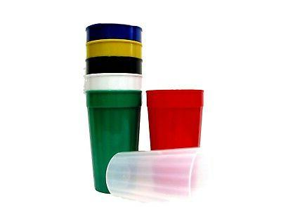 100 Lg Plastic Drinking Tumblers/Cups/Glasses Choice 10 Colo