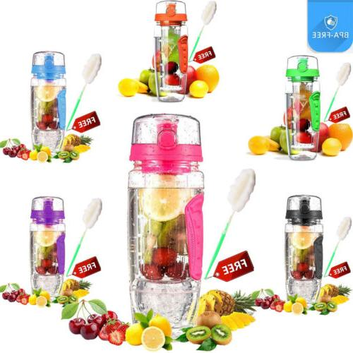 1000ML 32oz Fruit Sport Water with
