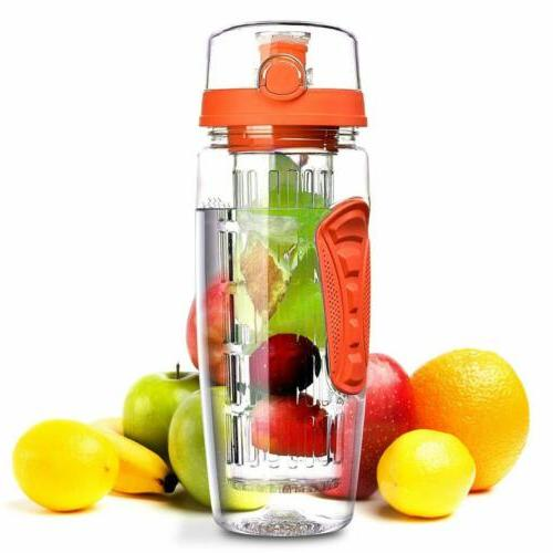 1000ML 32oz Sport Fitness Water Bottle with Brush