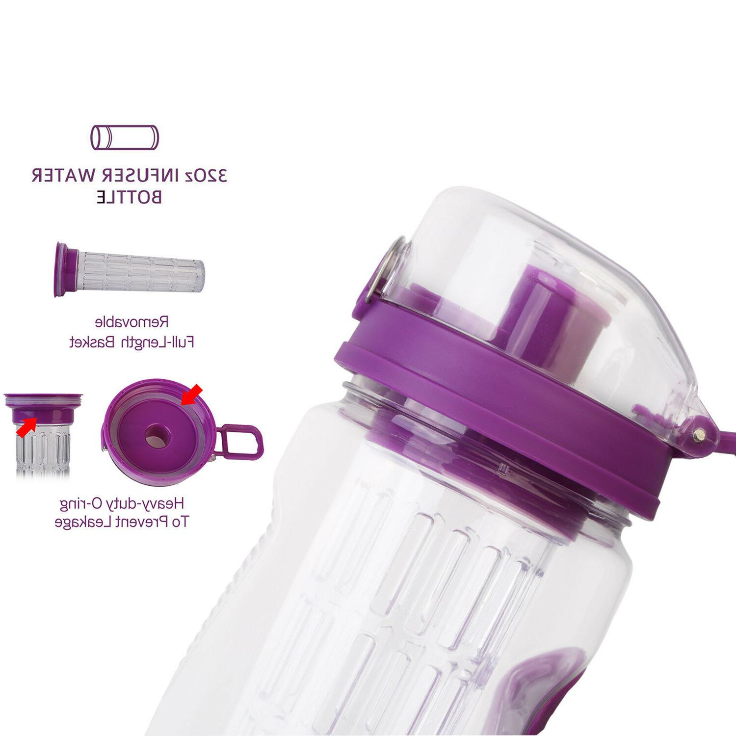 32 Oz Infusing Infuser Health BPA Free Plastic Open