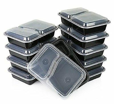 15 meal prep containers 2 compartment food