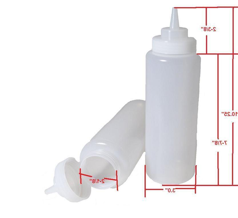 2x CLEAR BOTTLE, SQUEEZE