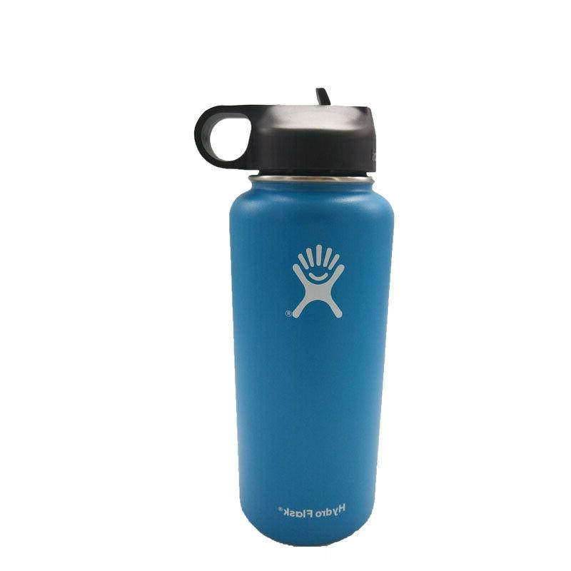 32/40oz Hydro Water Sport Bottle Stainless Insulated Lid