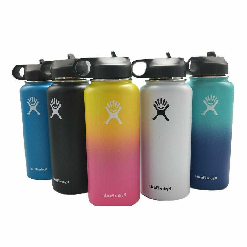 32/40oz Hydro Flask Stainless Steel Sport Bottle Insulated Wide Mouth Cap