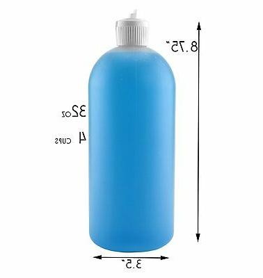 32-Ounce Flip Squeeze Bottles 4-Pack; Style