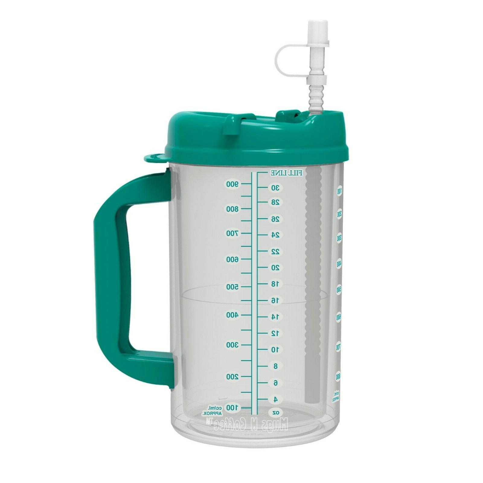 32 oz Double Insulated Straw Free
