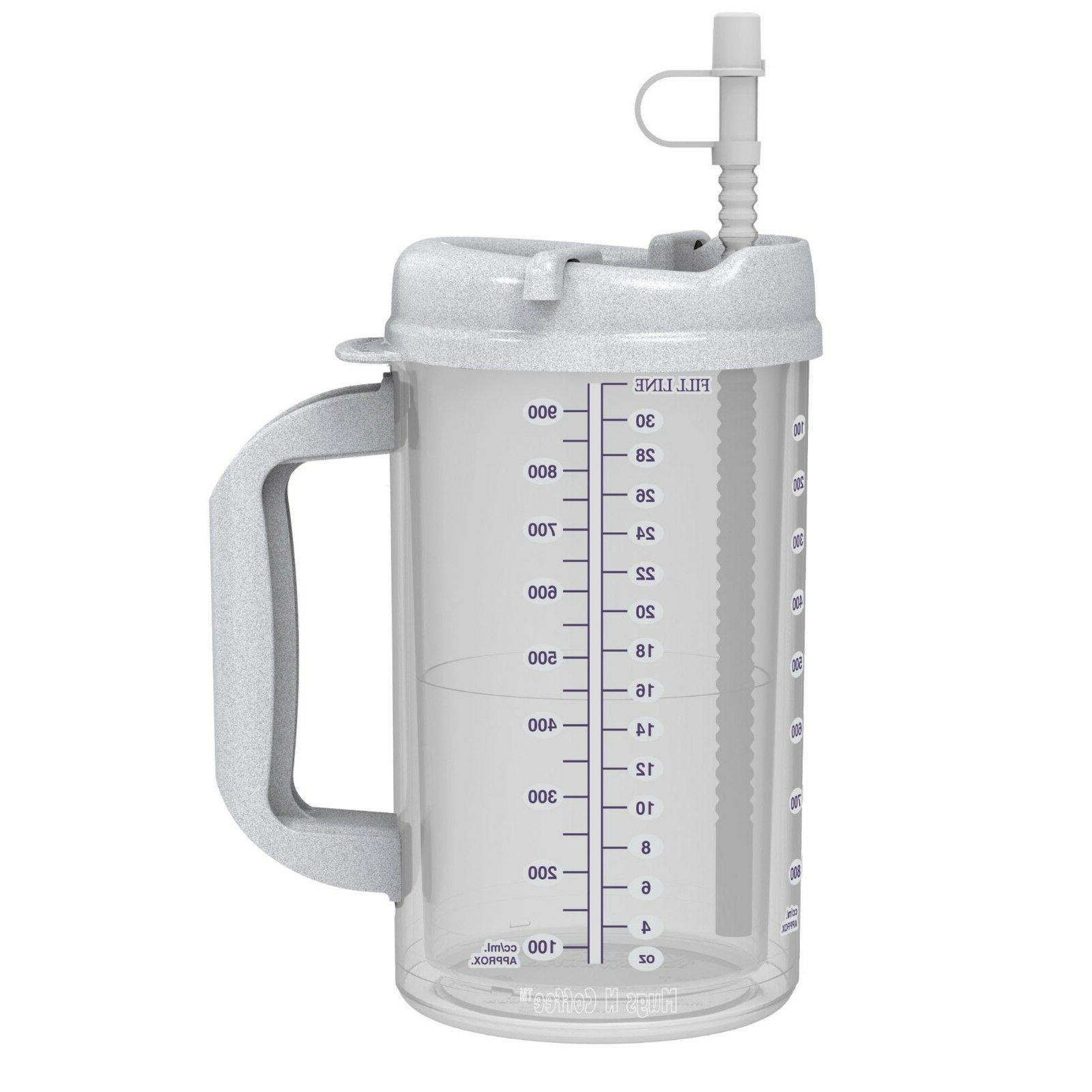 32 Hospital Mugs with Lids Cold Drink Travel
