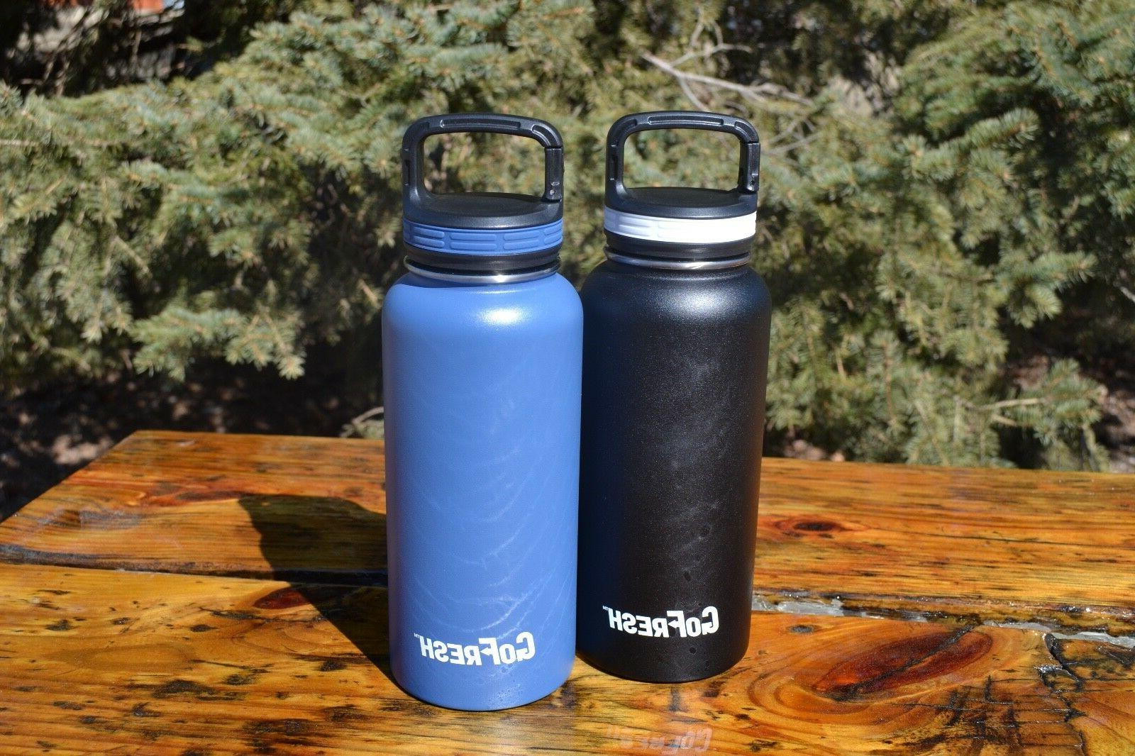 GoFresh 32 oz Stainless Water Bottle 2 &