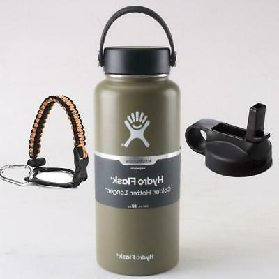 Hydro Flask 32 with Cap Straw Mouthwide Bo